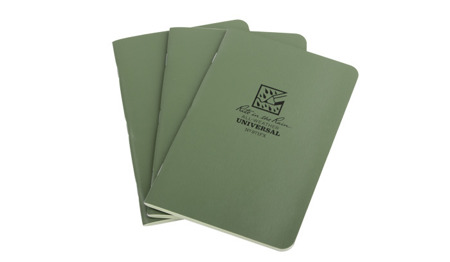 "Rite in the Rain - All-Weather Notebook - 4 5/8 x 7"" - 3 pcs - 971FX - Olive"