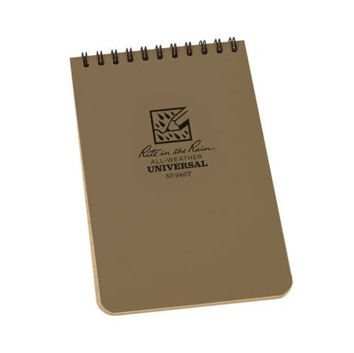 "Rite in the Rain - All-Weather Notebook - 4 x 6"" - 946T - Tan"
