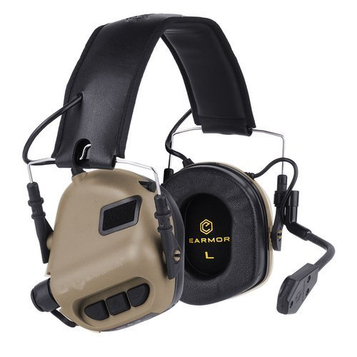 Earmor - M32 Tactical Mod 3 Communication Headset - Coyote Tan