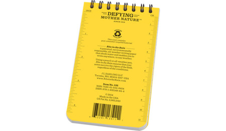 Rite in the Rain - All-Weather Notebook - 3x5'' - 135 - Yellow