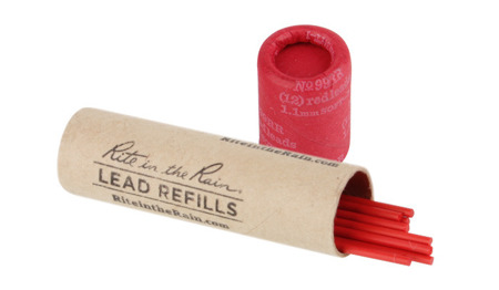 Rite in the Rain - Mechanical Pencil Lead Refill - 12 pcs - Red - Nº 99RR